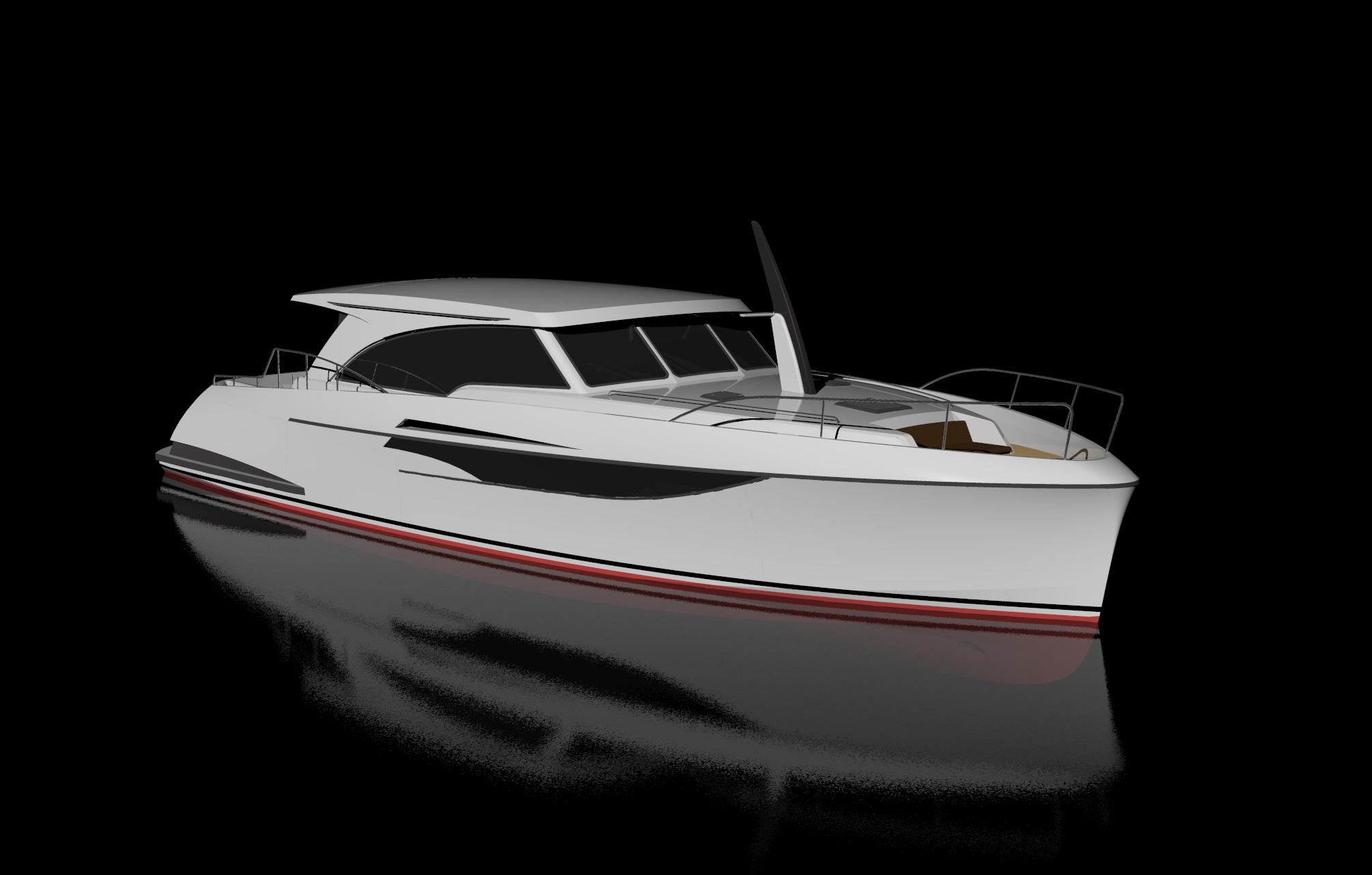 14m motoryacht rw yachtdesign for Yacht dekoration